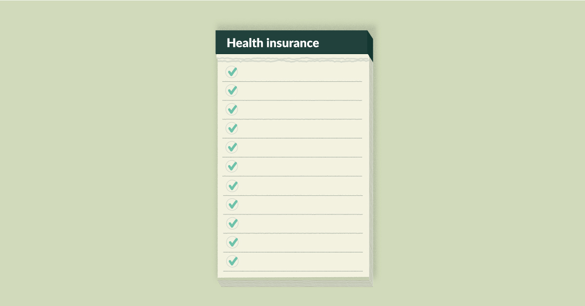 Checklist to buy health insurance