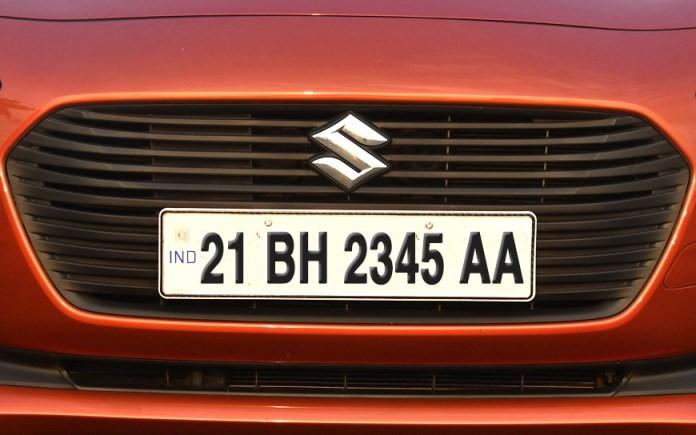 BH series number plate