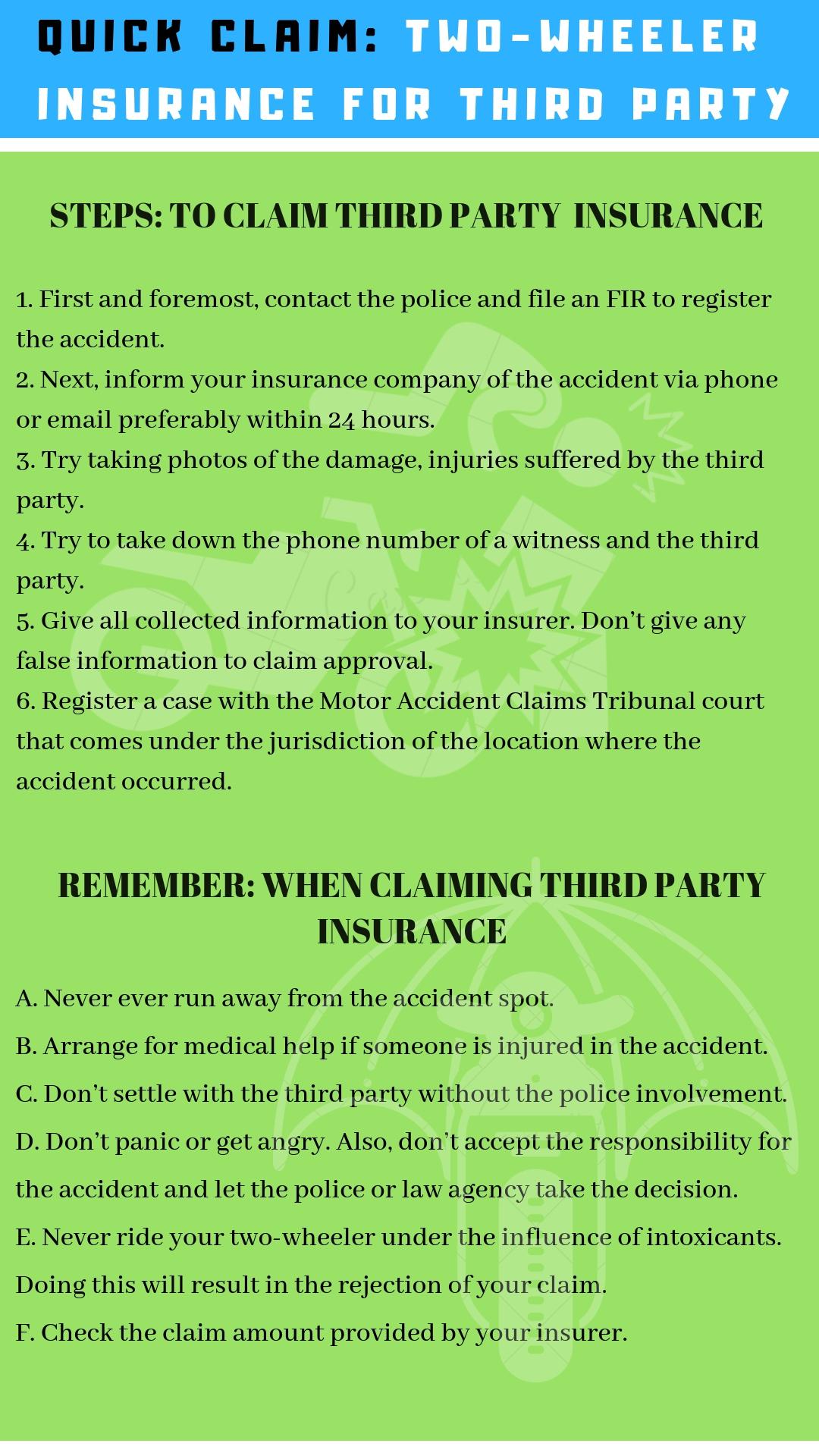 The Bike Insurer >> Third Party Two Wheeler Insurance Claim
