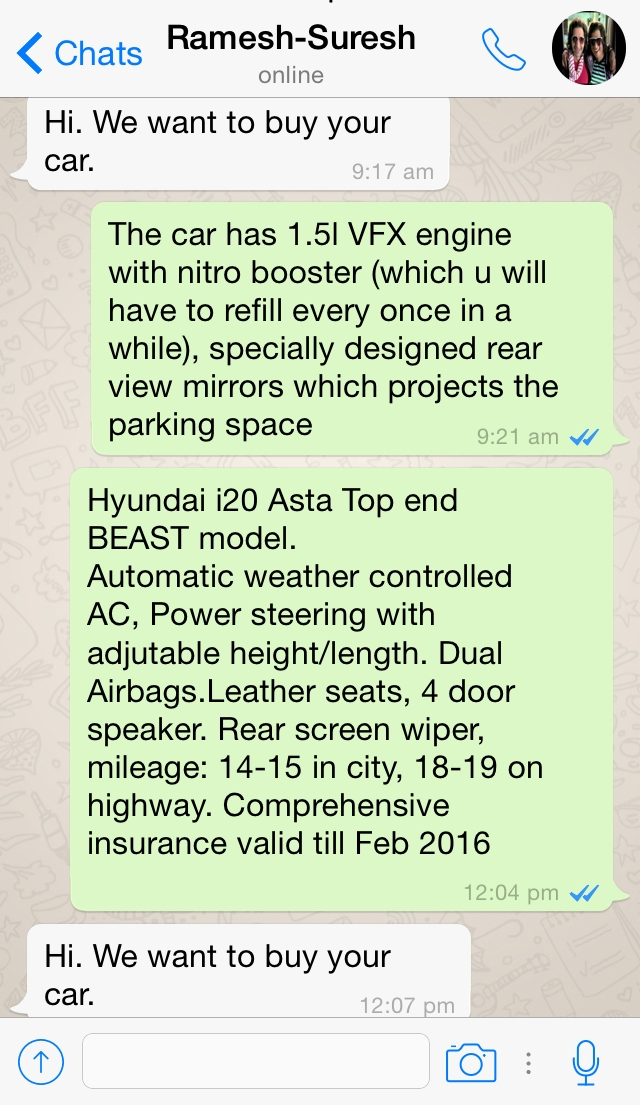 Selling & Buying a Used Car on Whatsapp Group